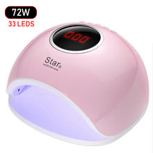 72W UV LED Lamp Gel Nail Lamp Nail Dryer For Nails All Gel Polish Sensor Sun Led Light Nail Art Manicure Tools(China)