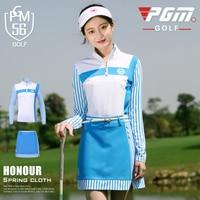 Golf Apparel Women Long Sleeve Striped Suit Spring Summer Tops Golf Trainning T Shirts+Skirt Sport Tennis Clothes Sets AA60492