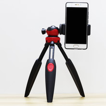 mobile phone video tripod Network Live Broadcasting cellphone holder for desk blue red rotatable mini universal stand