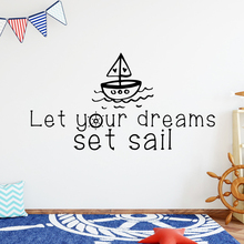 Removable Set Sail Wall Stickers Vinyl Waterproof Home Decoration Accessories Nursery Room Decor Art Decal