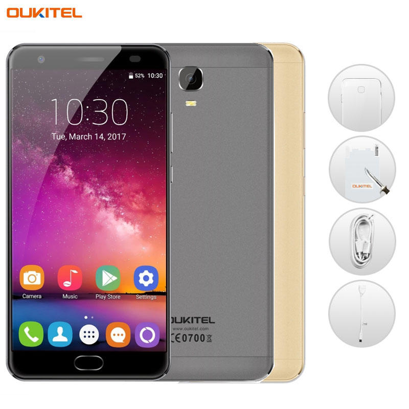 6080mAh OUKITEL K6000 Plus 4GB/64GB Fingerprint Identification Quick Charging 5.5'' Android 7.0 MTK6750T Octa Core up to 1.5GHz