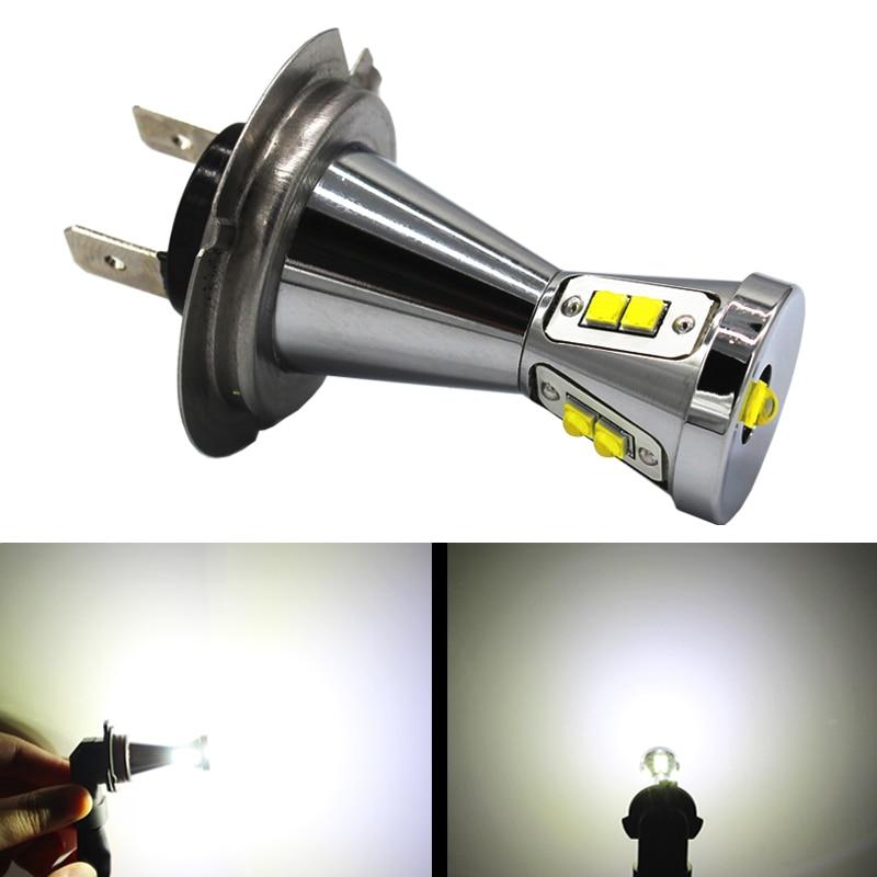 Auto LED Fog Lamps H7 45W LED Signal Light 12V 24V Red Yellow/Amber White led p13 Lights Driving Car Fog DRL LED Bulb H7
