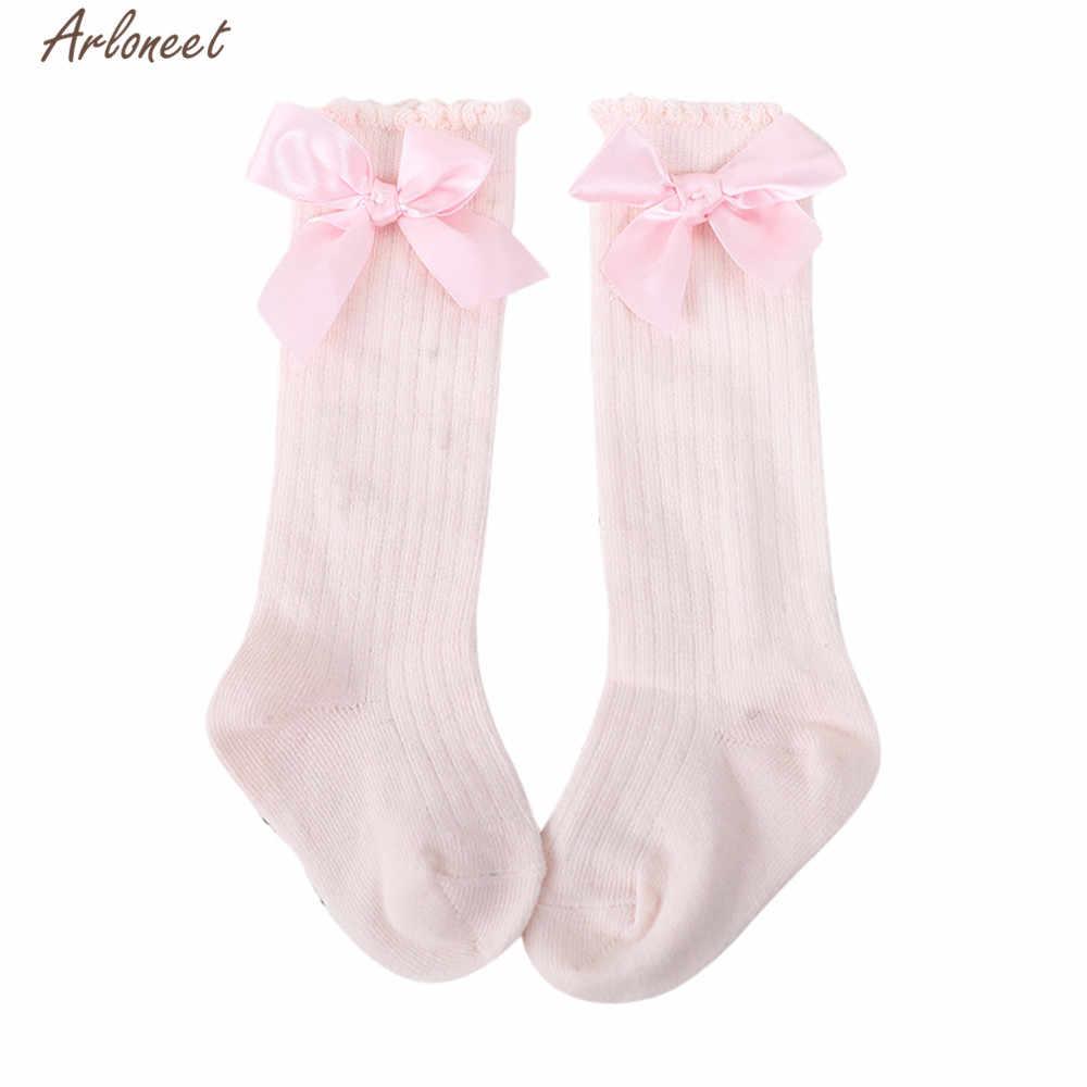 ARLONEET גרבי תינוקת ילד רך כותנה תערובת נעלי ילדים Cartoon גדול קשת הברך הכי חדש חם גרבי סתיו חורף