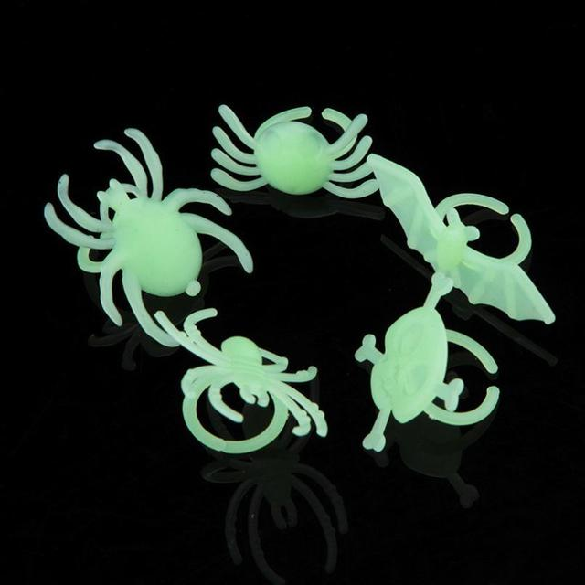 New Halloween Dance Party Accessories Toys Luminous Insects Ring