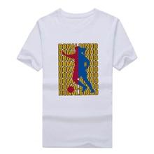 Men's Barcelona legend Ronaldinho art style tee T Shirt Men Short Sleeve 100% cotton T-shirts for fans gift 0304-26