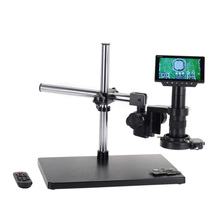 16MP 5 screen 4K WIFI digital microscope/HDMI USB microscope industrial camera 180X C-mount lens Zoom soldering microscope 2 0mp hd industrielle lab microscope camera vga usb av sortie tv zoom c monture