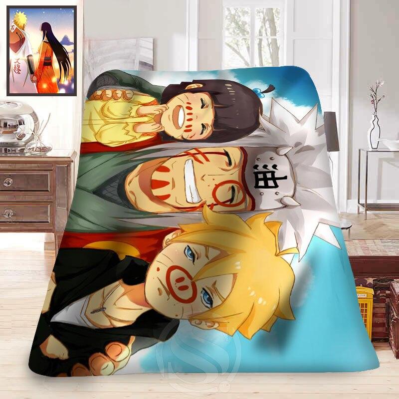 사용자 정의 애니메이션 나루토 #3 담요 부드러운 장식 침실 t #829 & tz149-에서담요부터 홈 & 가든 의  그룹 3