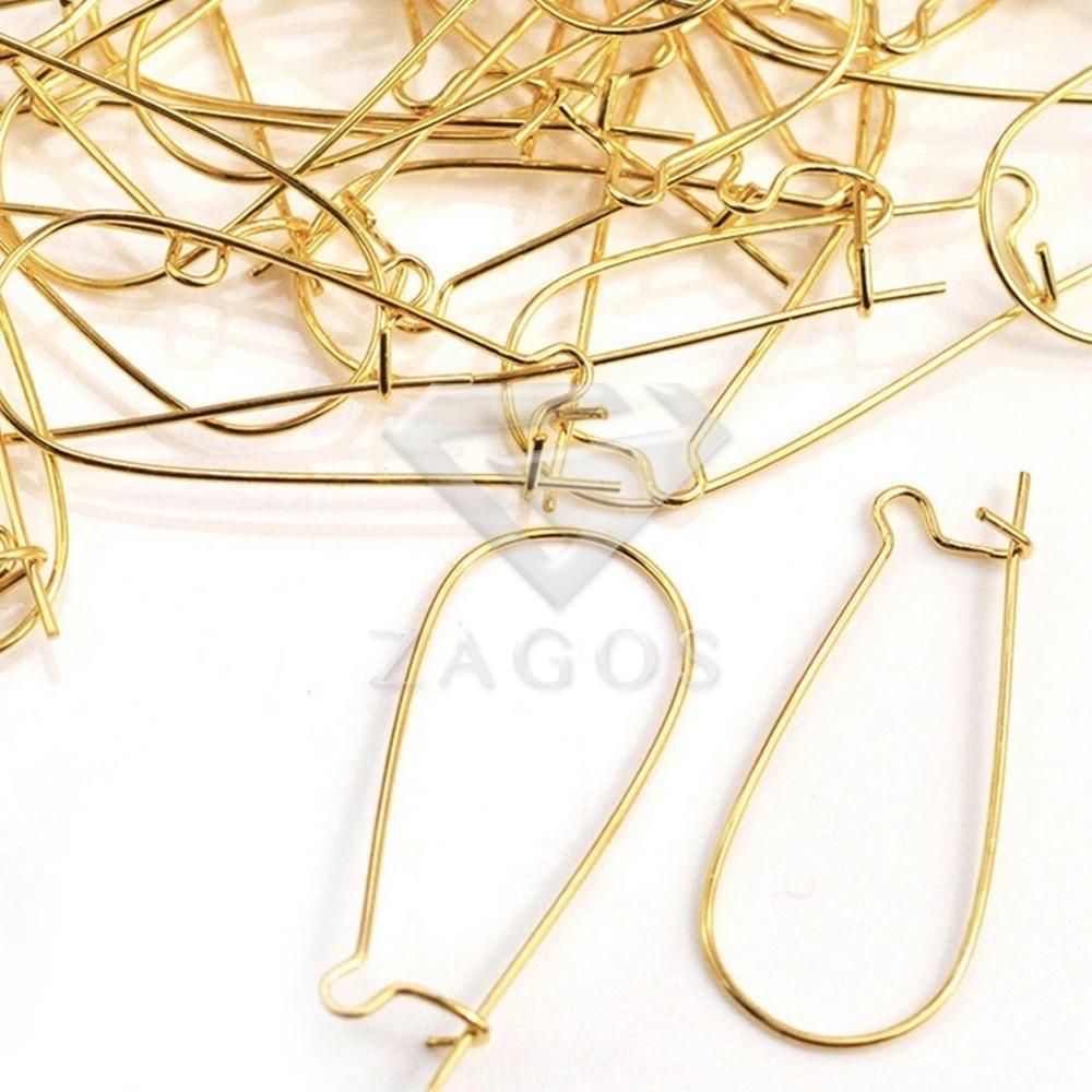 15//25//30//35//40mm Kidney Ear Hooks Wire Earring Lever Back Jewelry Findings