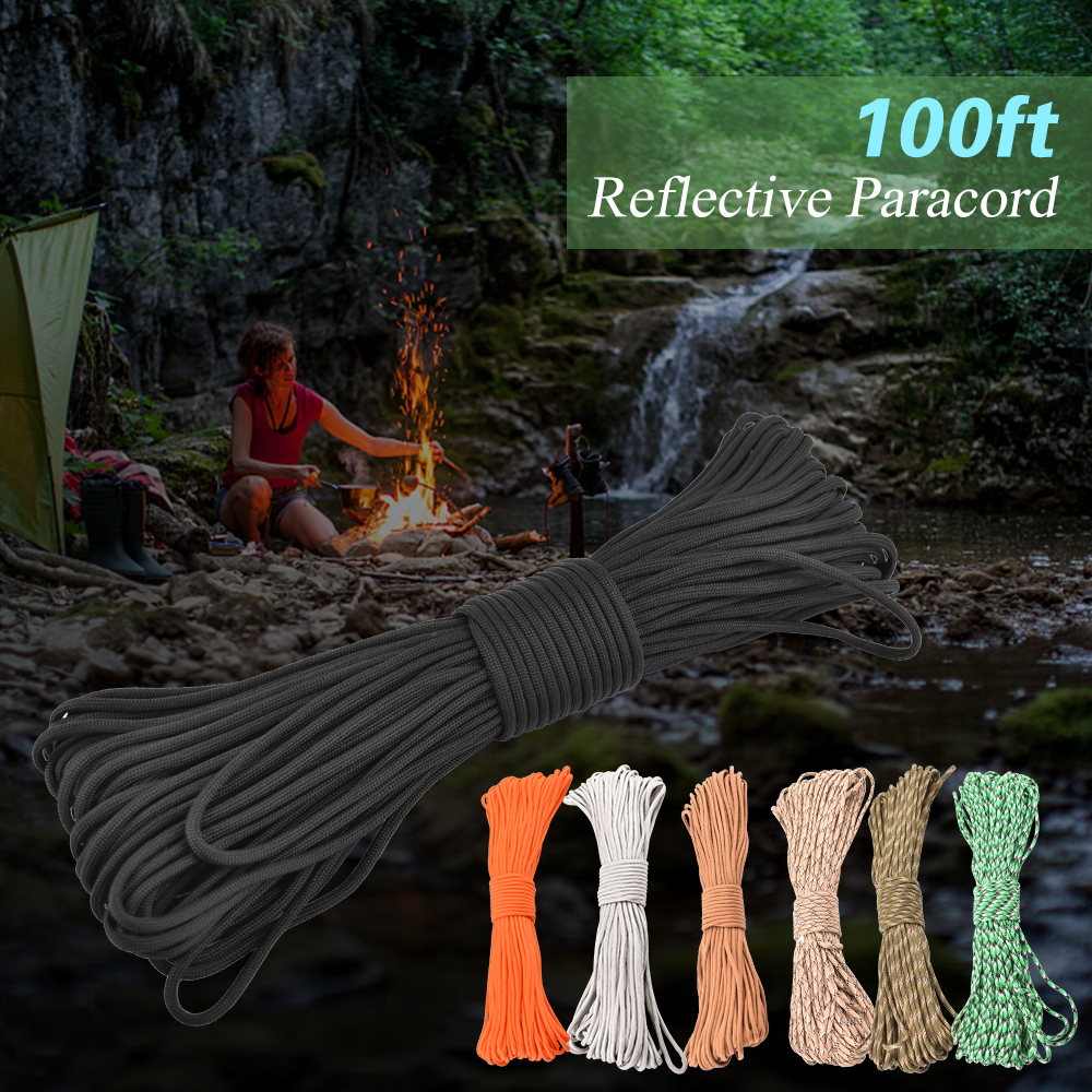 Image 5 - 100FT Camping Paracord Guyline Tent Rope 9 Strand Camping Parachute Cord-in Paracord from Sports & Entertainment