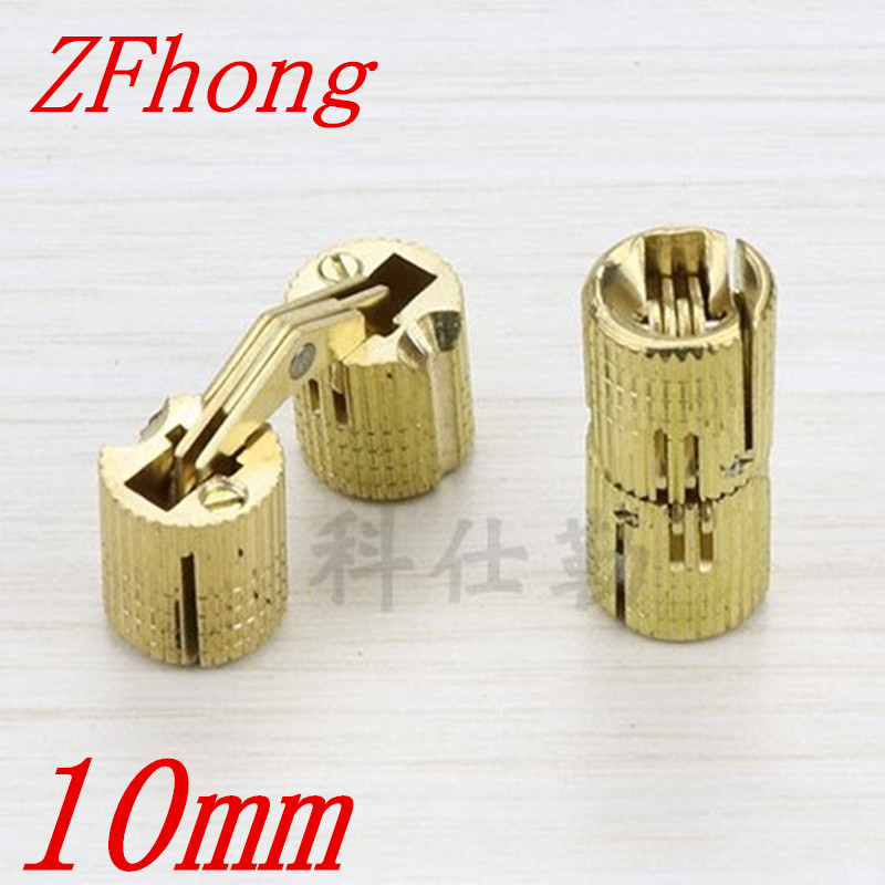 4PCS 8mm brass Barrel Hinges Cylindrical Hidden Cabinet Concealed Invisible