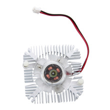 PC VGA Video Card 2 Pin 55mm Cooler Cooling Fan Heatsink 4800 RPM centechia mini 55mm 2 pin graphics cards cooling fan aluminum gold heatsink cooler fit for pc computer cpu vga video card