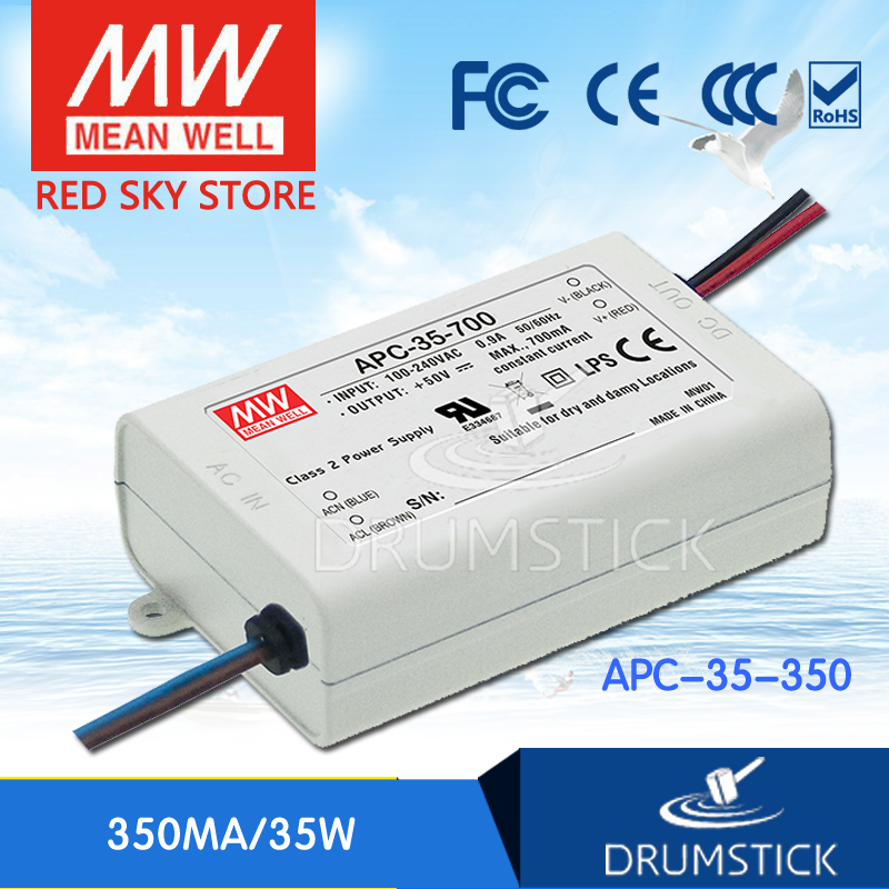 ФОТО Redsky [free-delivery 2Pcs] MEAN WELL APC-35-350 100V 350mA meanwell APC-35 35W Single Output LED Switching Power Supply