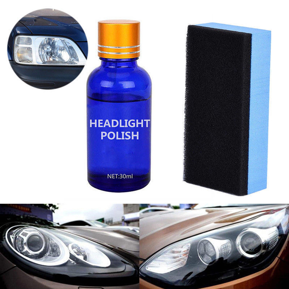 30ML Auto <font><b>Light</b></font> Polishing Repair Coating Agent <font><b>Car</b></font> Repair <font><b>Car</b></font> Vehicle Headlight Lamp Lens Polish <font><b>Cleaner</b></font> Liquid Restoration Kit image