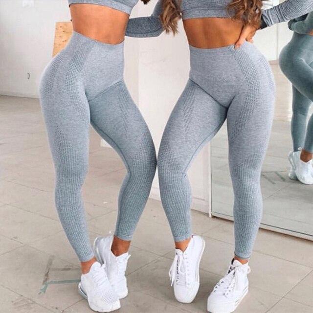 원활한 레깅스 여성용 피트니스 레깅스 여성용 Jeggings Sportswear Femme 하이 웨이스트 운동 레깅스 여성용