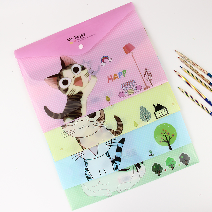 1-pc-cute-cartoon-cheese-cat-pvc-a4-filing-fontbproducts-b-font-file-folder-storage-stationery-schoo