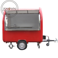 Factory supply 300kg outdoor food cart food cart mobile towable food trailer for sale