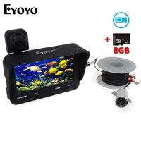 Eyoyo 20m Professional Fish Finder DVR Video Recorder 6 Infrared LED Underwater Fishing Camera Overwater Camera