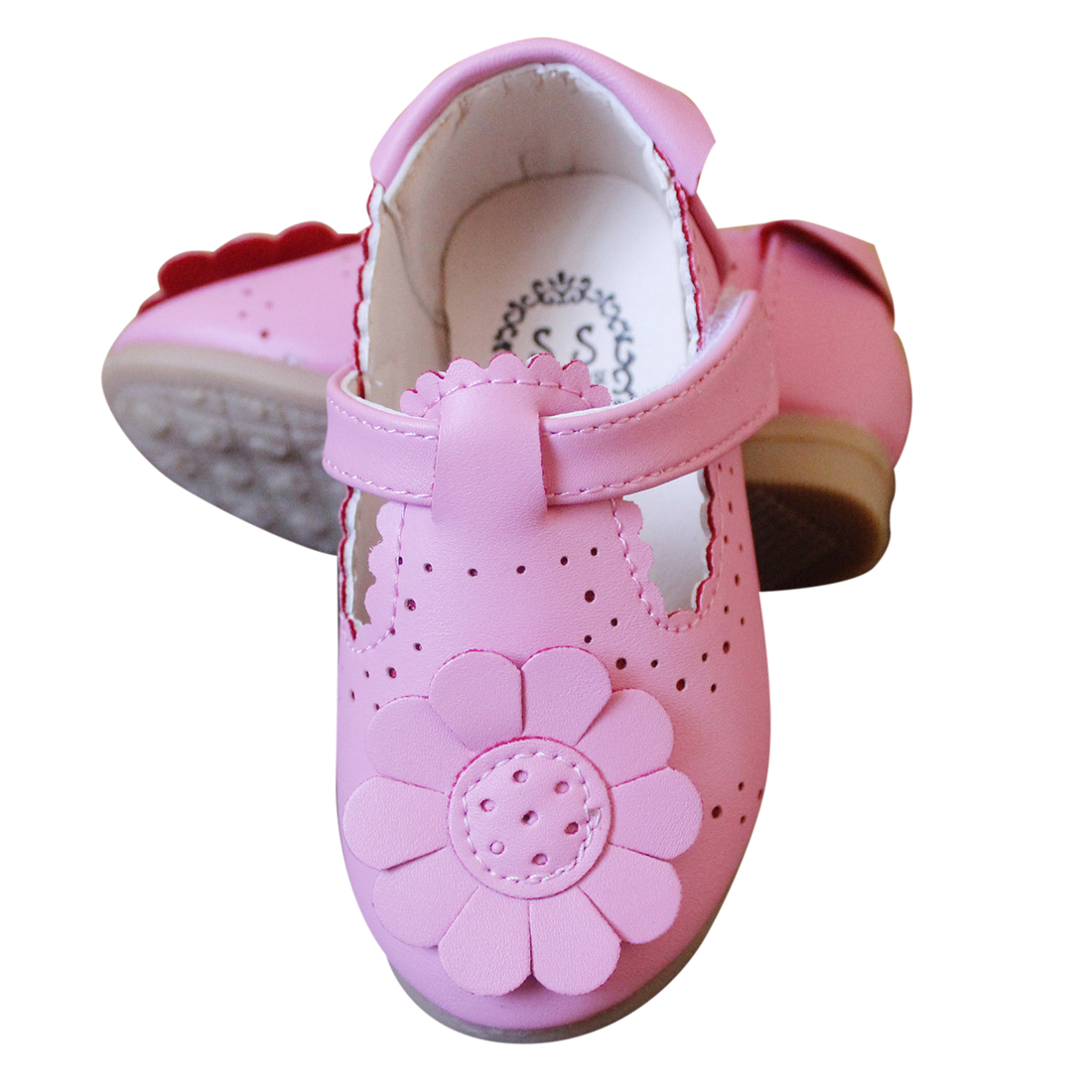 Kids Autumn Spring Fashion Flower Flat Shoes For Girl Leather Solid Hollow Casual Pretty Girls Shoes ...