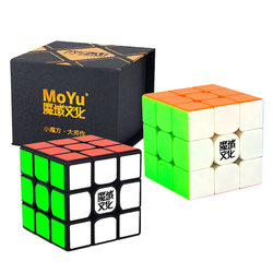 Moyu Weilong GTS 2 M 3x3x3 cubo magico professione cubo magnetico nero adesivo o stickerless bambini puzzle giocattoli educativi