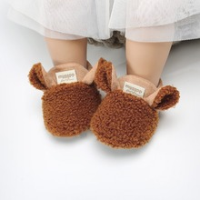 Newborn Baby Boy Girl Shoes First Walker Infant Soft Lamb Ve