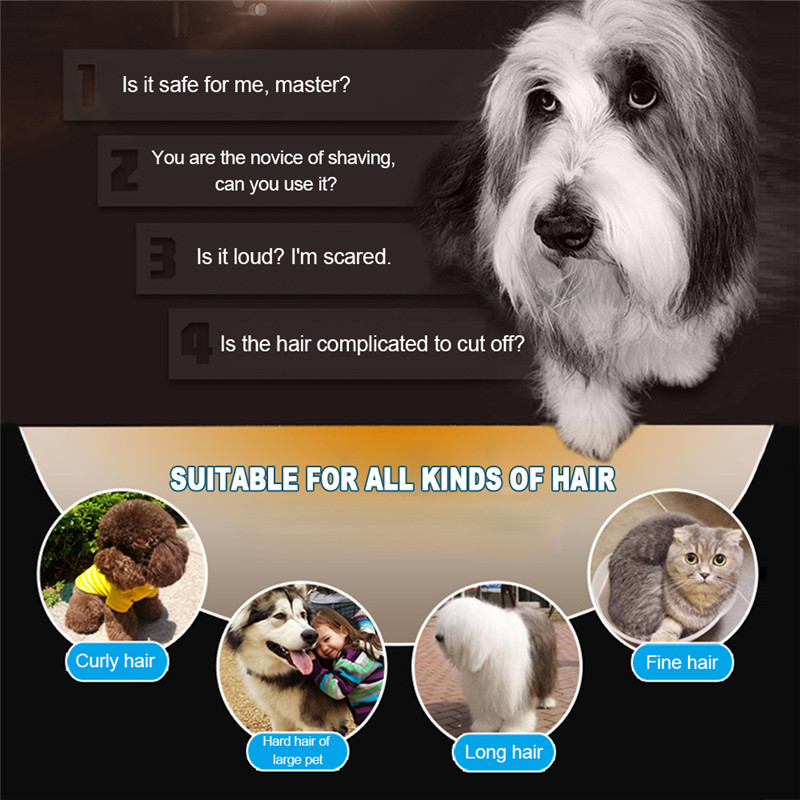 Recortadora eléctrica de bajo ruido para mascotas 15