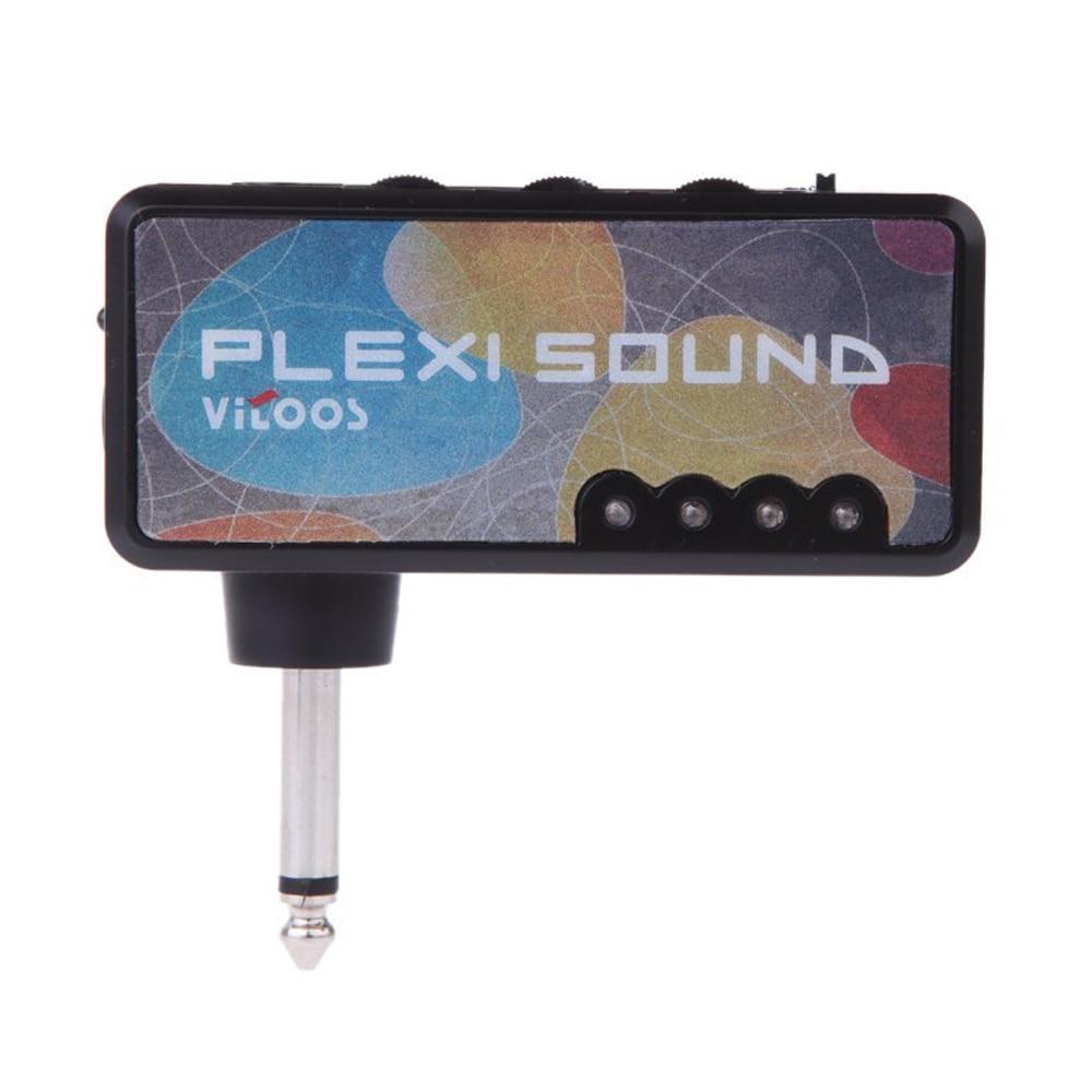 2Pcs Vitoos Electric Guitar Plug Mini Headphone Amp Amplifier Plexi Sound Compact Portable 5pcs vitoos electric guitar plug mini headphone amp amplifier plexi sound compact portable