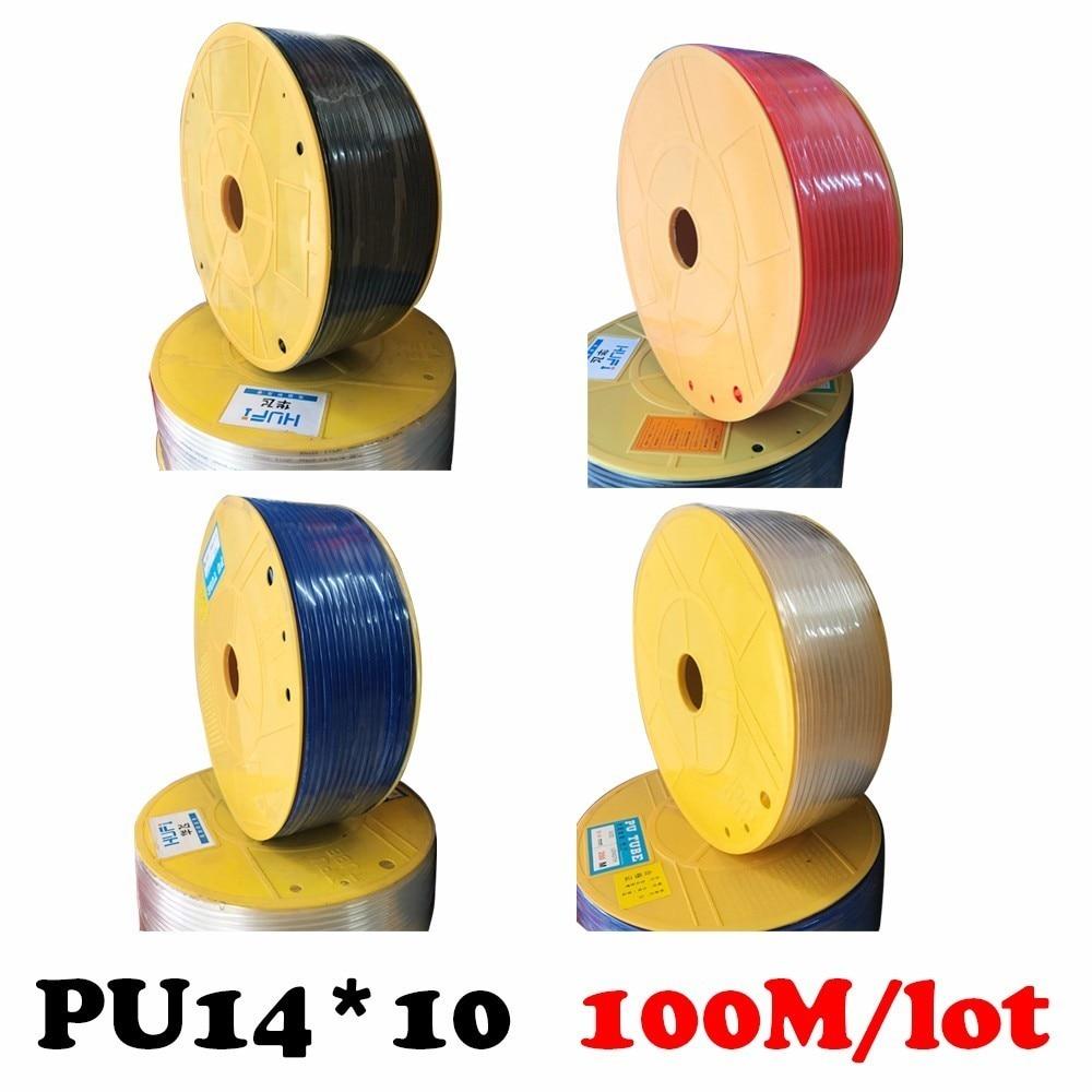цена на High pressure air compressor PU tube 14*10mm air pipe to air compressor pneumatic component red 100m/rollpneumatics-tube