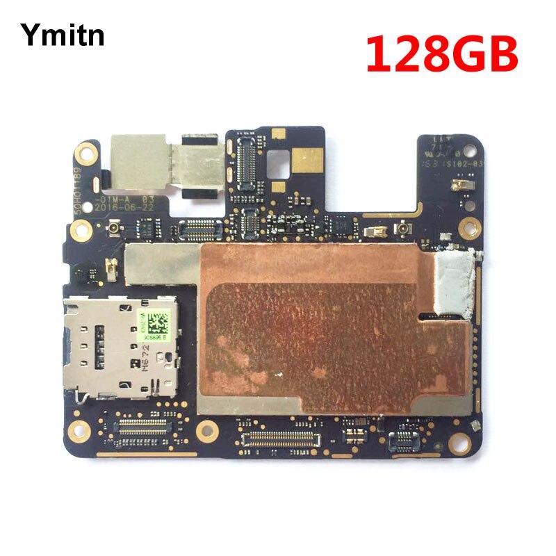 Ymitn Travail Bien Débloqué Mobile Électronique Panneau Carte Mère Carte Mère Circuits Flex Câble Pour Google Pixel 128 gb