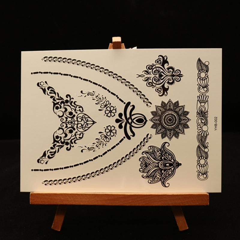 Black Henna Tattoo Paste: New Indian Arabic Black Henna Tattoo Paste Lace Designs