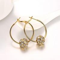 Big Circle 18k Golden Blink Shining Hoop Earings Platino Princo New Fashion Jewelry