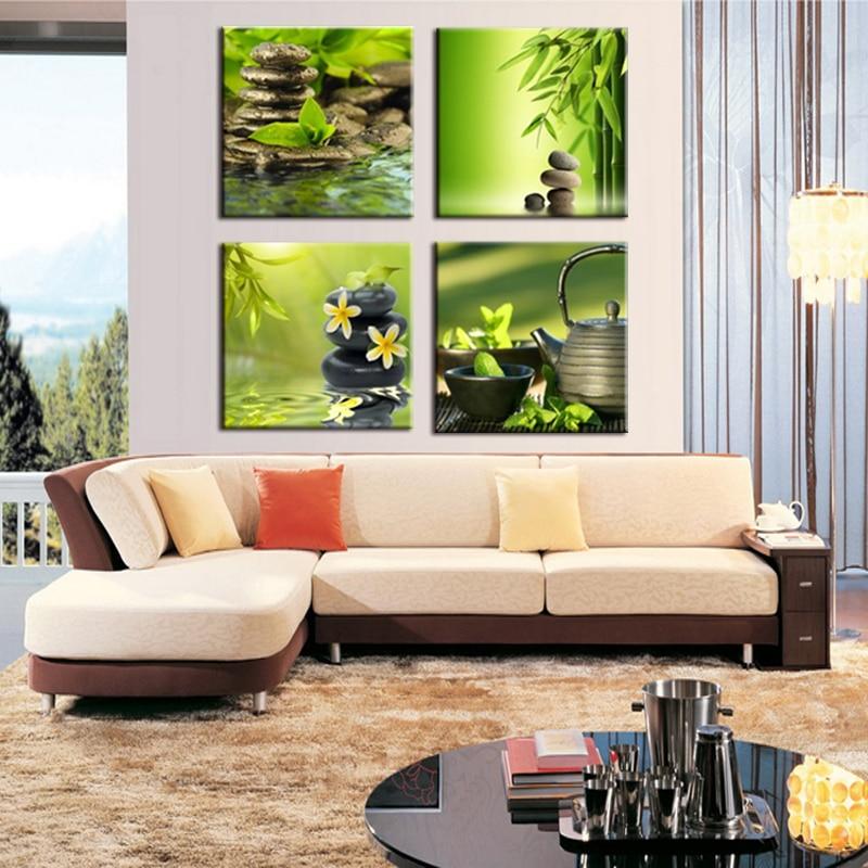 Cadre 4 panneau série moderne vue sur la mer impression toile - Décor à la maison