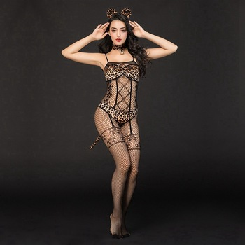 Leopard Bra Bodystocking