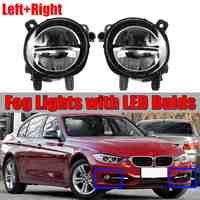 A Pair Car Front LED Fog Light Fog Lamp DRL Driving Lamp For BMW F20 F22 F30 F35 LCI With LED Bulds 63177315559 63177315560