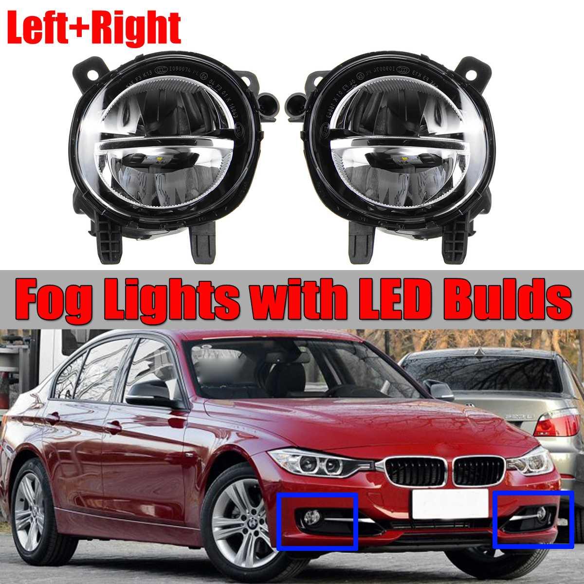 Une paire voiture avant LED antibrouillard feu de brouillard DRL lampe de conduite pour BMW F20 F22 F30 F35 LCI avec LED Bulds 63177315559 63177315560
