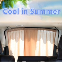 2X Rear Window Car Sun Shade Car Styling Car Window Curtain UV Protection Sunshade   Auto   Back Window Sun Shield Cover