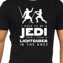 Star wars elder scrolls skyrim funny t shirt jedi arrow knee