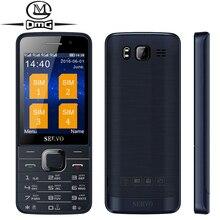 """Russe clavier Quad Sim carte mobile cellulaire téléphone D'origine SERVO V9500 2.8 """"GPRS 2 caméra MP4 Sans Fil FM lampe de poche WhatsApp"""
