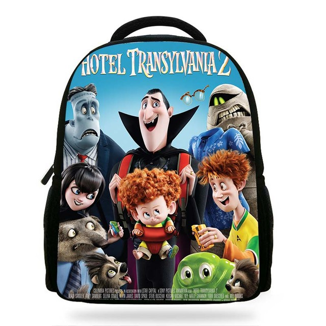 7cdd2f49ba 2018 New Cartoon Movie Hotel Transylvania 2 Book Bags For Children  Drakula Denis Character Backpack