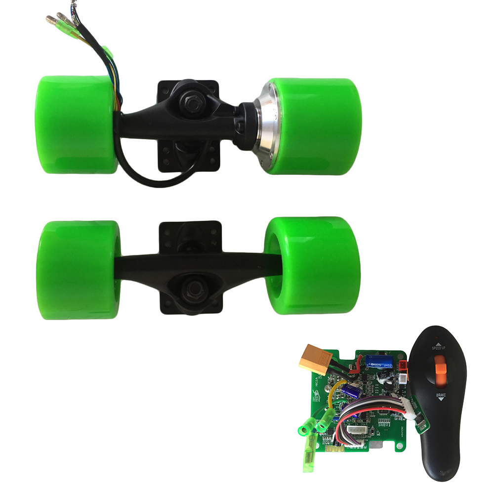 Kit de moteur de moyeu électrique Longboard 72mm roues de camion de moteur sans brosse de planche à roulettes camion de bride en aluminium d'entraînement de moteur simple de 6 pouces
