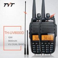 2PCS BAOFENG TYT TH UV8000D walkie talkie 10W Upgrade Version Crossband Repeater Function VHF UHF TH UV8000D рация cb ham radio