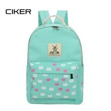 Ciker новый 2017 мода cute cat печать рюкзак женщины ноутбук рюкзаки для девочек-подростков mochilas рюкзак школьные сумки рюкзак