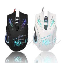 3200 DPI 6 Button USB Gaming Mouse LED Light Pro Gamer For PC Laptop