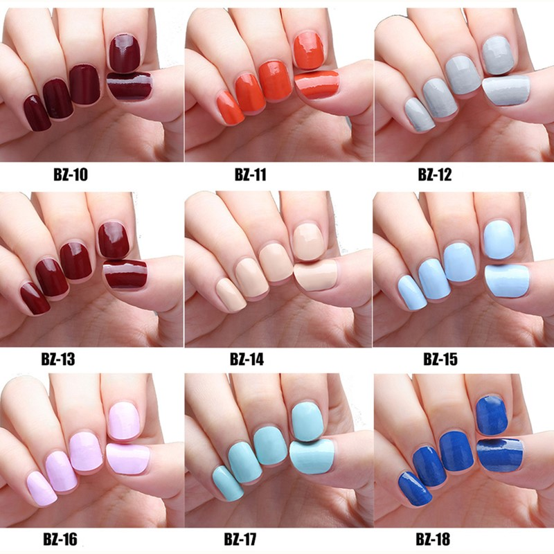 New 20 Tips/Sheet Pure Color Nail Wraps Full Cover Nails Sticker Art ...