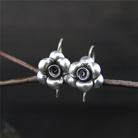 S925 Silver Rose Earrings in Sterling all match small female flowers