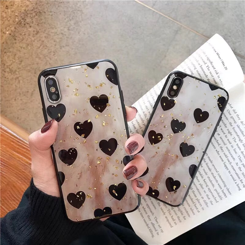 2019 new iphone xr case for iPhone 6 7 8 x xs xsmax apple iphone 7 8 plus Epoxy love glitter mobile phone case in Fitted Cases from Cellphones Telecommunications