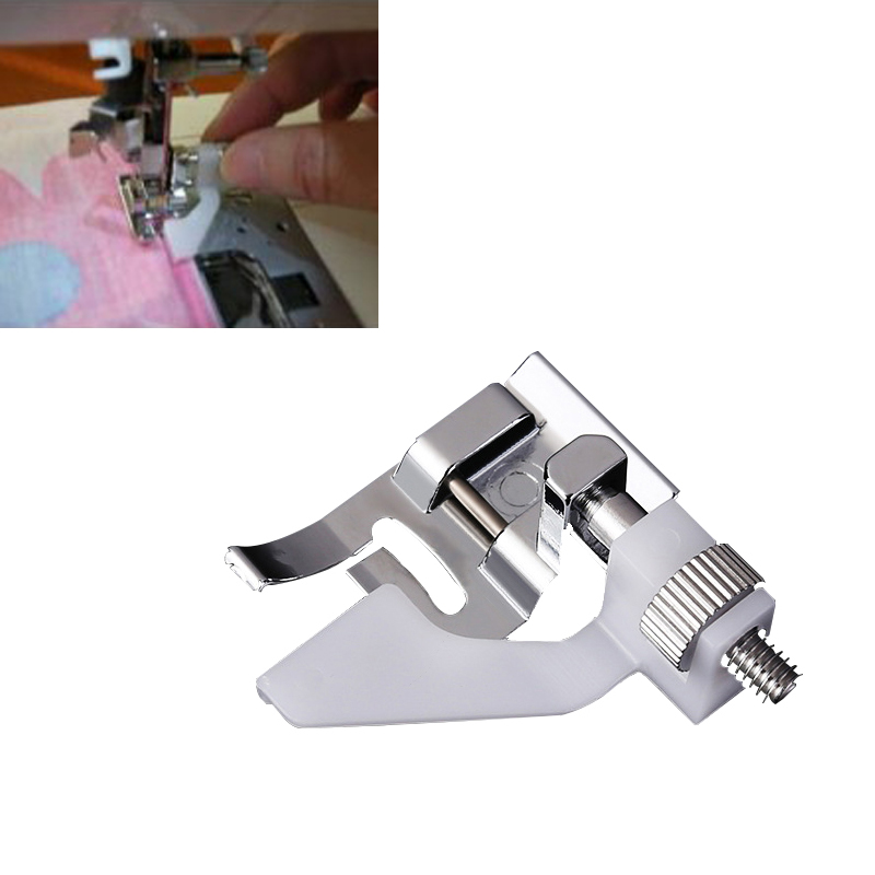 1PC Adjustable Curled Edge Sewing No Stitch Stitching Presser Foot for Household Machine Dedicated Parts