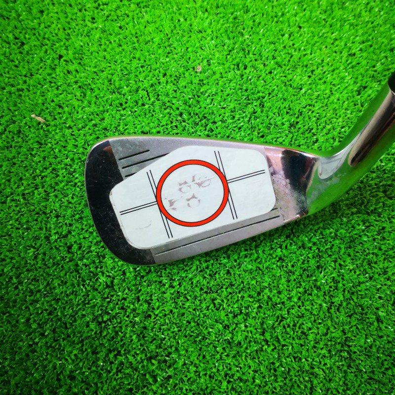 10 Uds. Etiquetas de impacto para palo de Golf etiquetas de impacto cinta adhesiva conductor hierro punto dulce accesorios de papel de prueba de Golf Gran oferta Agarre del palo de Golf Universal antideslizante Grips Wrap accesorios de entrenamiento para palos de Golf de hierro palos de madera