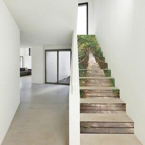 Image 2 - Adesivi per scale 3D adesivi per scale adesivi murali per pavimenti adesivi per soggiorno decorazione 13 pz/set