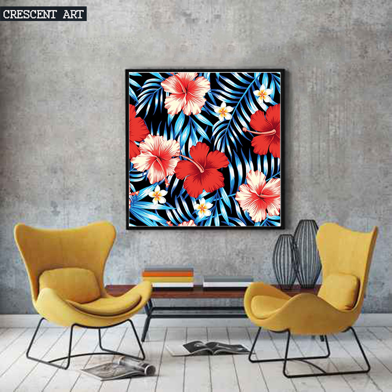 2017 Hawaiian Aloha Flowers Spring Bloom Wall Decoration Poster Leaves Picture Print Canvas Photo Art Home