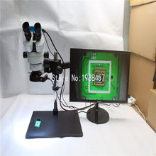 Buy online 3.5X~90X Trinocular Guide Stereo Zoom Microscope 16MP 1080P 60FPS HDMI USB Video Camera 25cm Working Distance PCB Inspection
